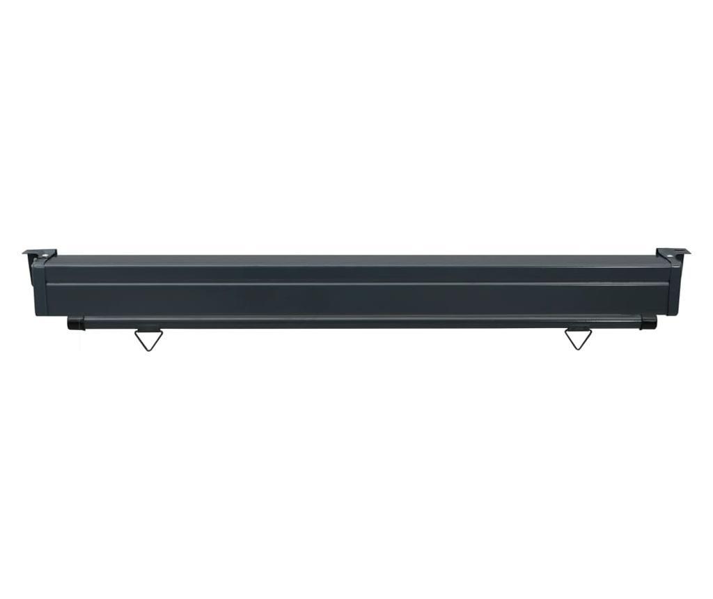 Вертикална тента за балкон, 160x250 см, кремава