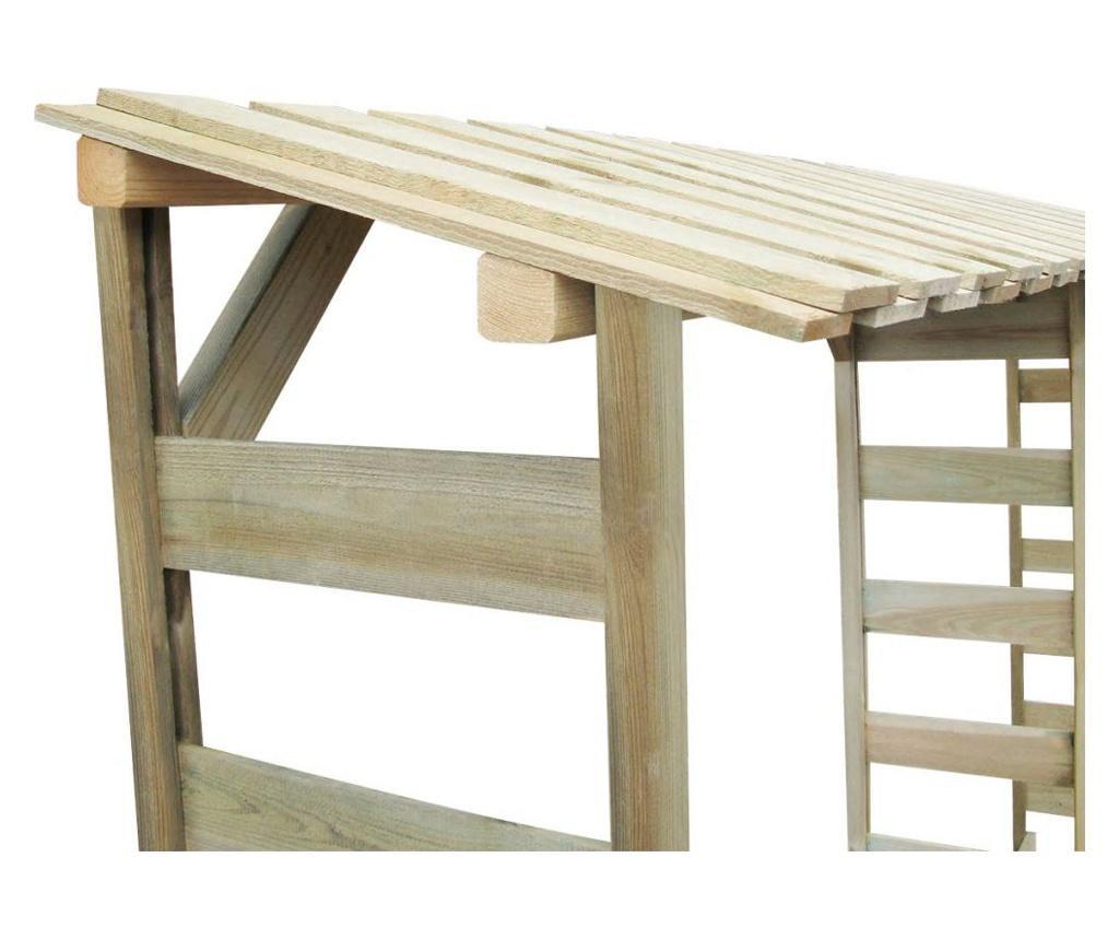Duplo spremište za drva 300 x 44 x 176 cm impregnirana borovina