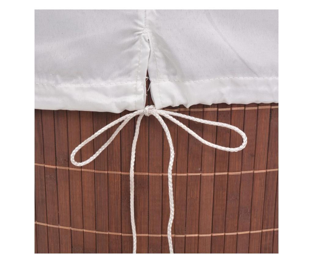 Bambusowy kosz na pranie, owalny, brązowy