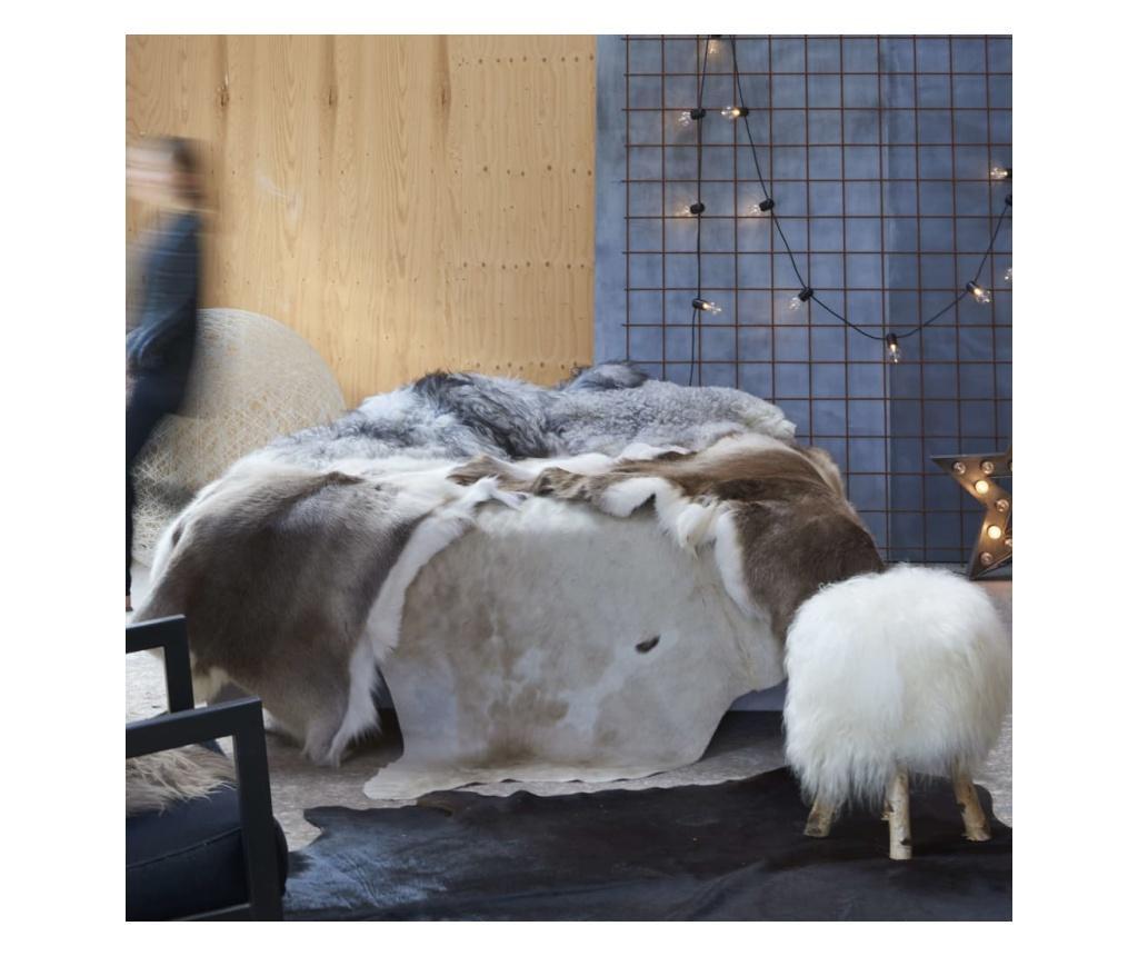 Dywan z krowiej skóry, brązowo-biały, 150x170 cm