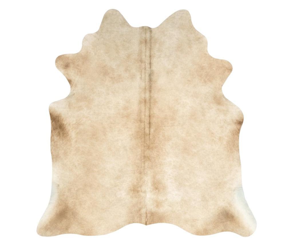 Dywan z bydlęcej skóry, 150 x 170 cm, beżowy