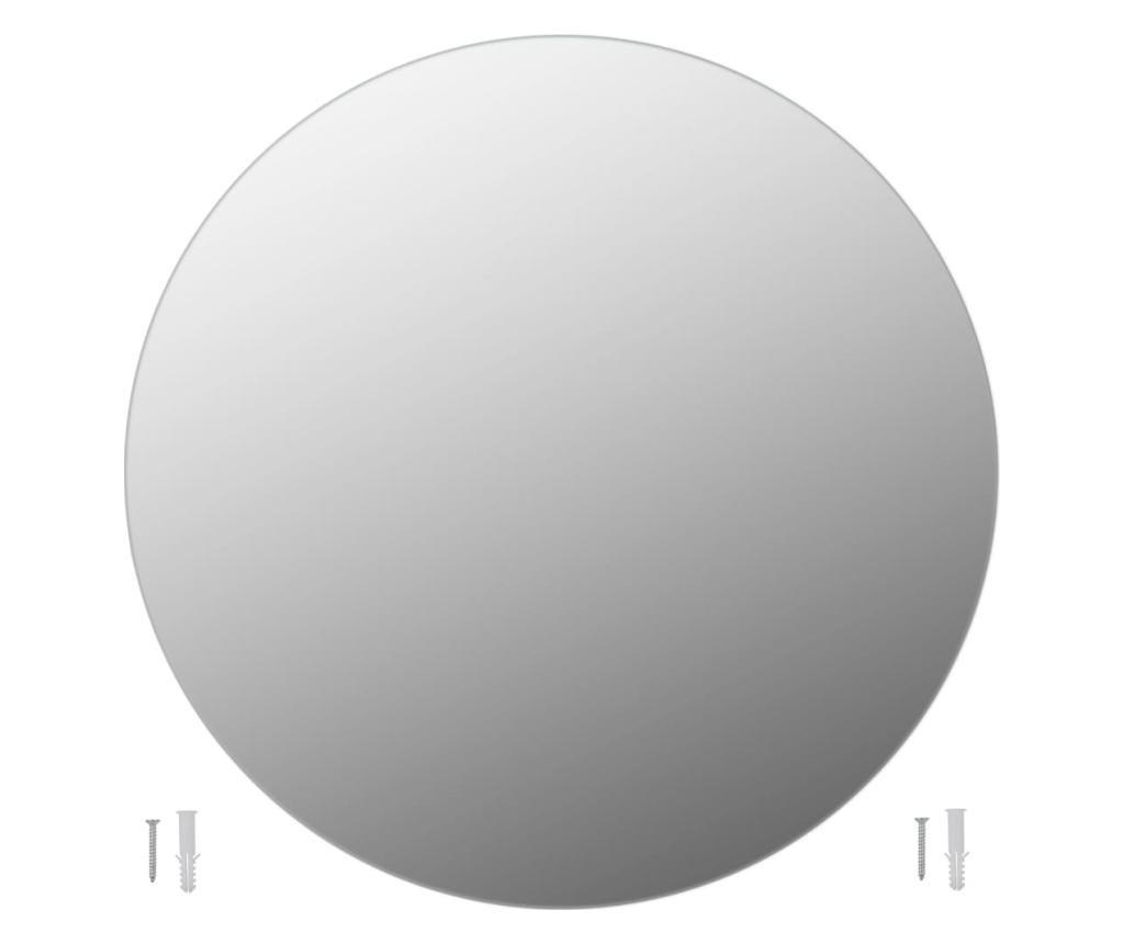Oglinda fara rama, 80 cm, sticla, rotund