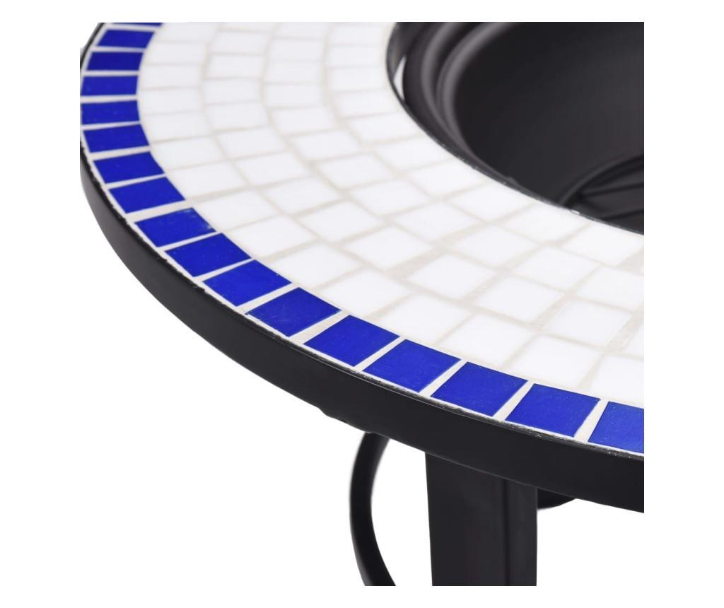 Mozaična posuda za vatru plavo-bijela 68 cm keramička
