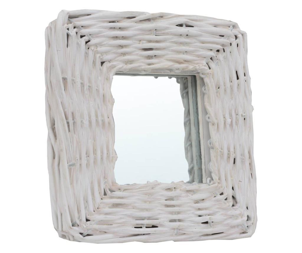Oglinzi, 3 buc., alb, 15 x 15 cm, rachita