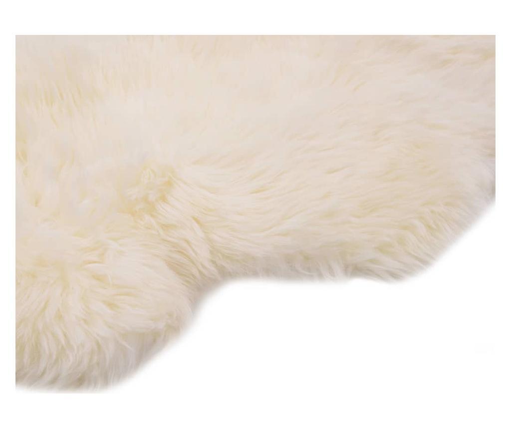 Dywanik ze skóry owczej, 60 x 90 cm, biały
