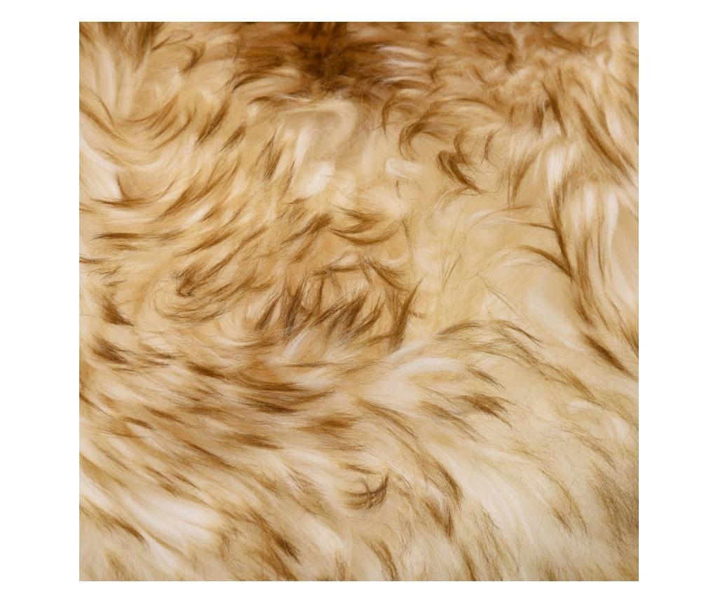 Dywanik ze skóry owczej, 60 x 90 cm, brązowy melanż