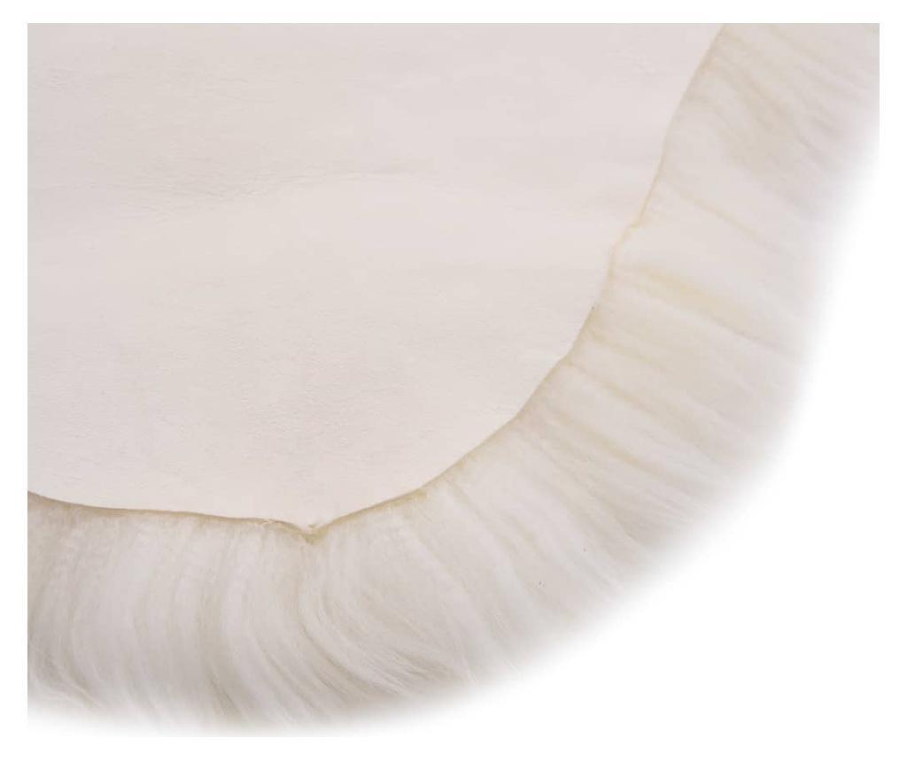 Dywanik ze skóry owczej, 60 x 180 cm, biały