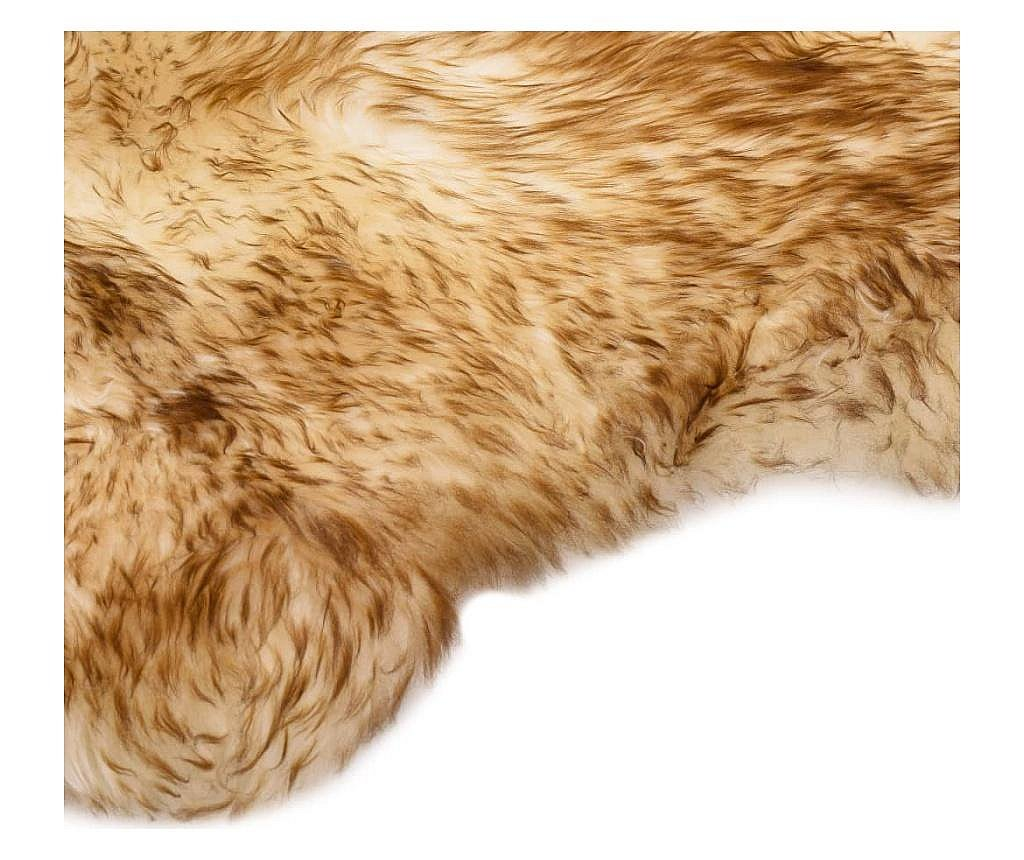 Dywanik ze skóry owczej, 60 x 180 cm, brązowy melanż
