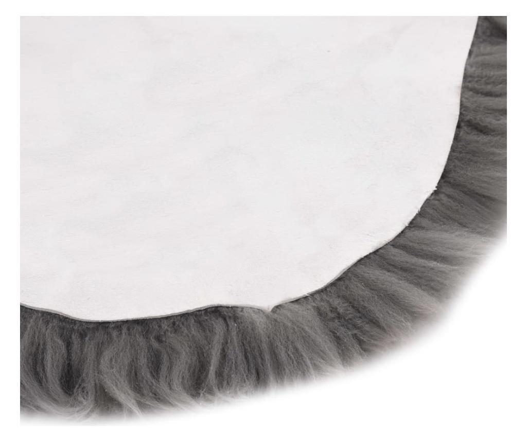 Dywanik ze skóry owczej, 60 x 180 cm, jasnoszary