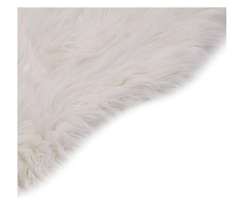 Dywanik, 60 x 90 cm, sztuczna owcza skóra, biały