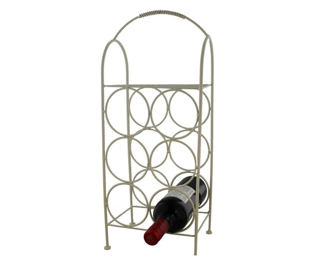 Suport metalic pentru 6 sticle vin