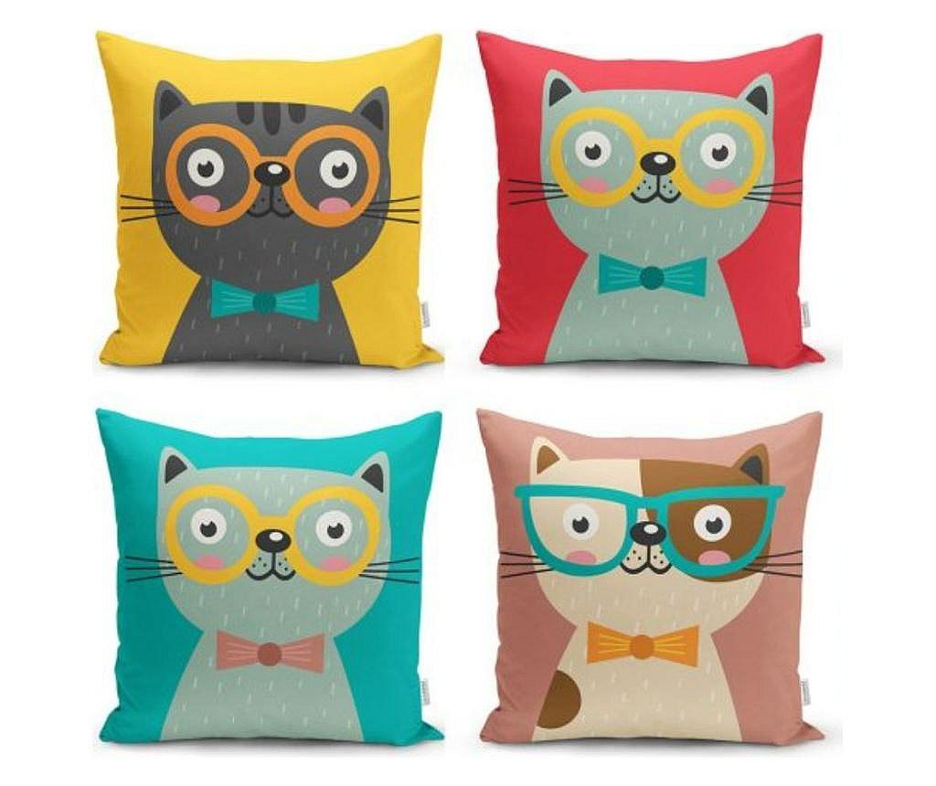 Set 4 jastučnice Minimalist Cushion Covers We Love Cats