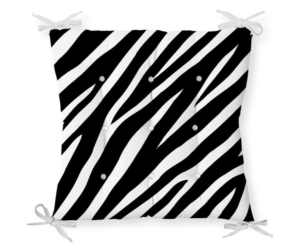 Jastuk za stolicu Minimalist Cushion Covers Black White Zebra Design 40x40 cm