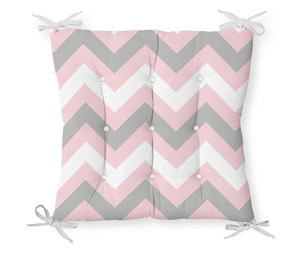 Jastuk za stolicu Minimalist Cushion Covers Pink Gray Zigzag 40x40 cm