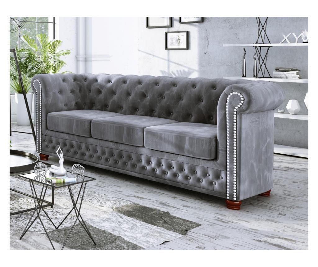 Canapea 3 locuri Chesterfield York Gray
