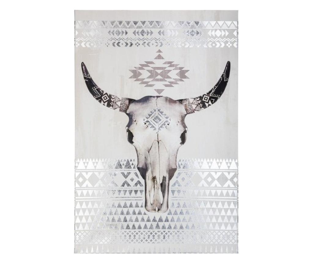 Tablou canvas Boufalo Silver, 60x70 cm