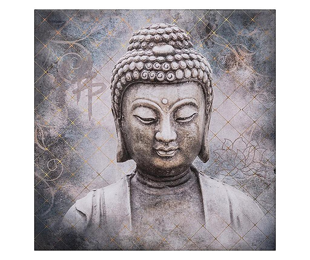 Tablou canvas Bouddha Zen, 38x38 cm