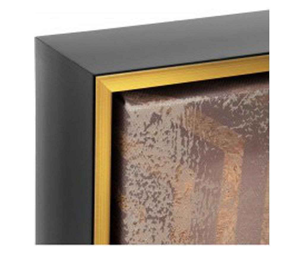 Tablou canvas Bouddha Gold, 102x102 cm