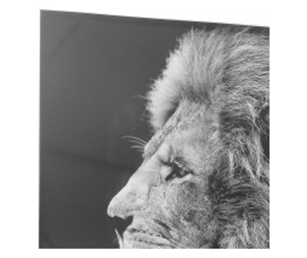 Tablou canvas Lion Black, 118x78 cm