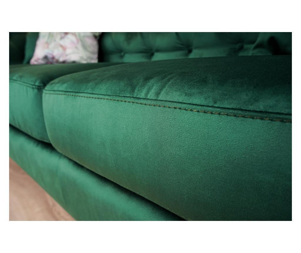 Canapea extensibila 3 locuri Chesterfield Zurich Green