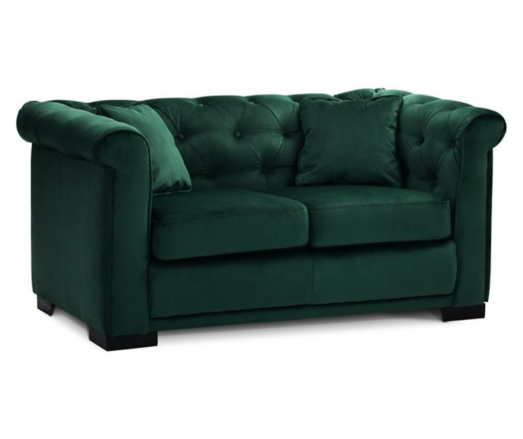Canapea 2 locuri Chesterfield Zurich Green