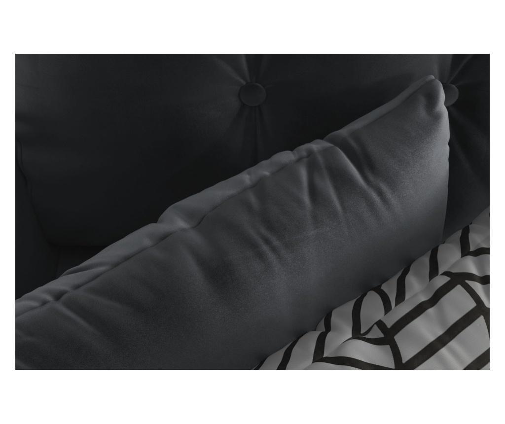 Rozkładany narożnik lewostronny Memphis Anthracite Grey
