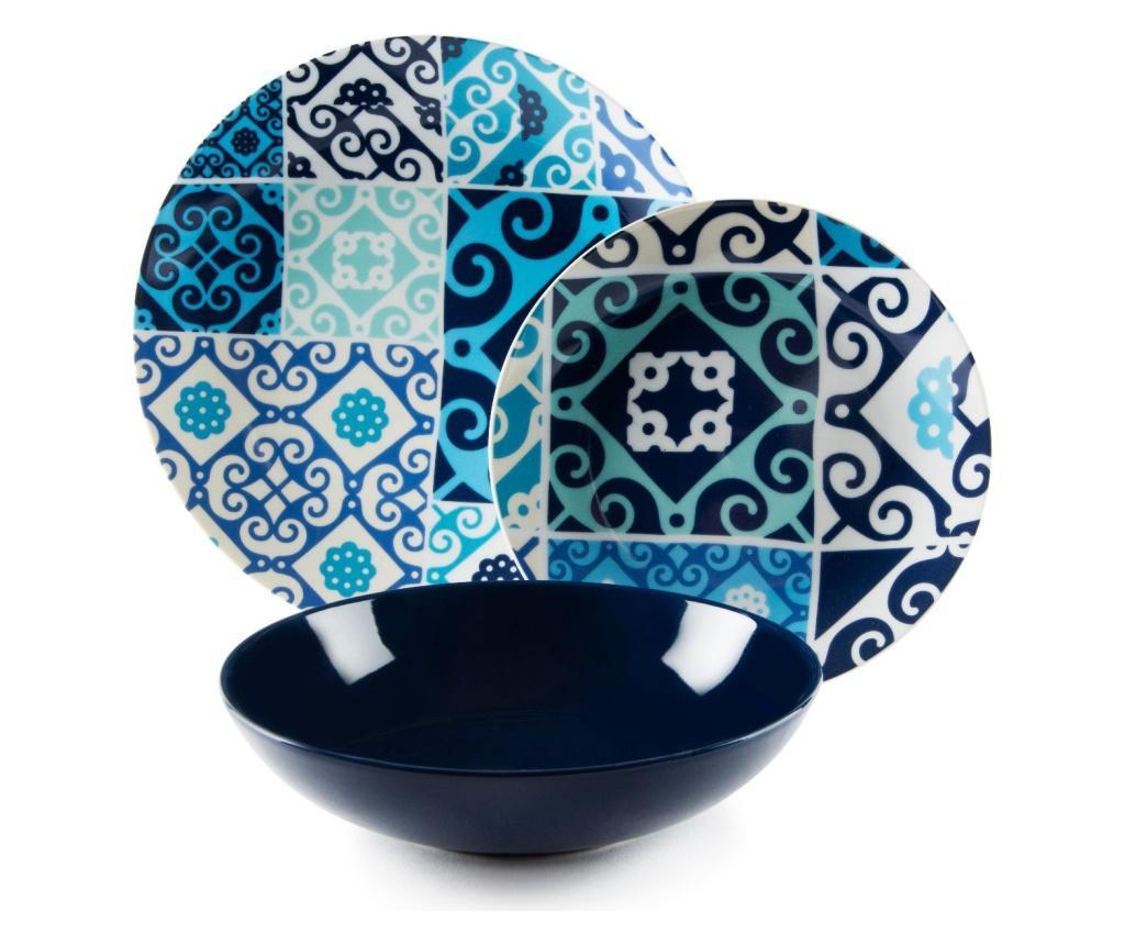 Zastawa stołowa 18 sztuk Maiolica Blue