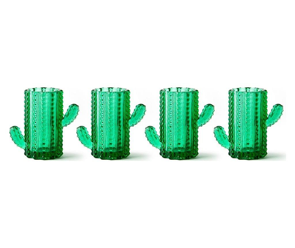 Set 4 pahare pentru lichior Cactus 50 ml