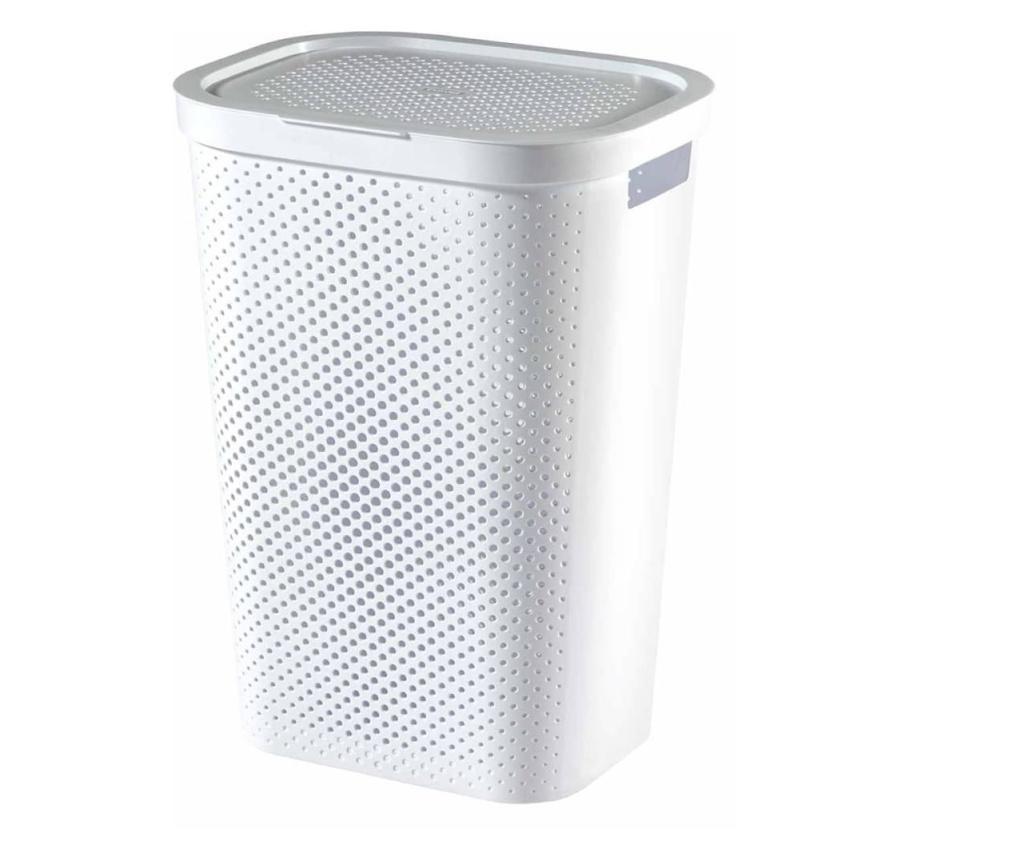 Curver Kosz i koszyk na pranie Infinity, zestaw 2 szt., 40L+60L, biały