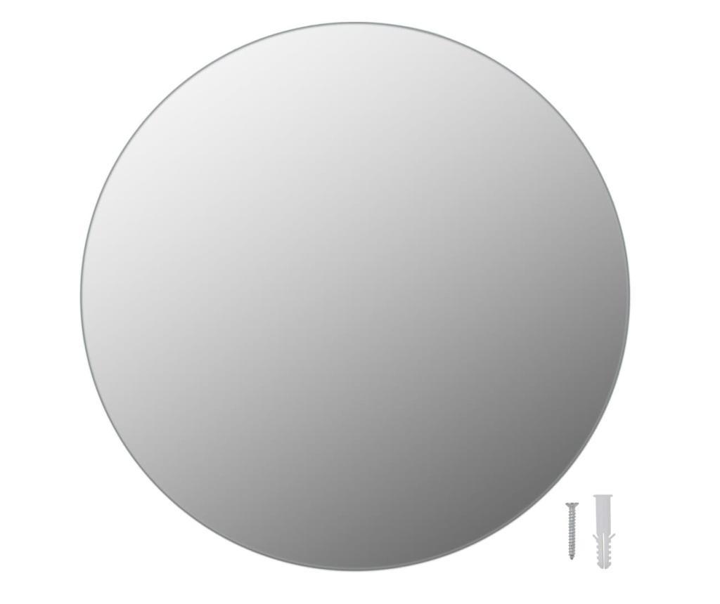 Oglinzi de perete, 2 buc., 40 cm, sticla, rotund