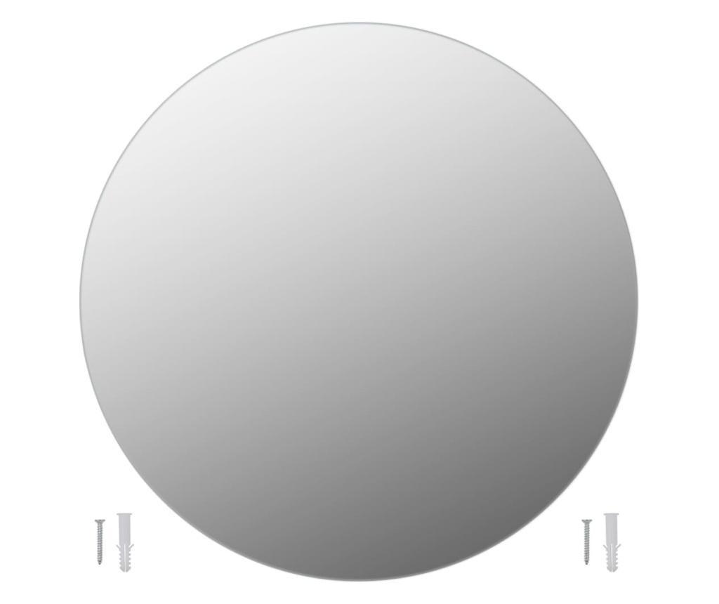 Oglinzi de perete, 2 buc., 50 cm, sticla, rotund