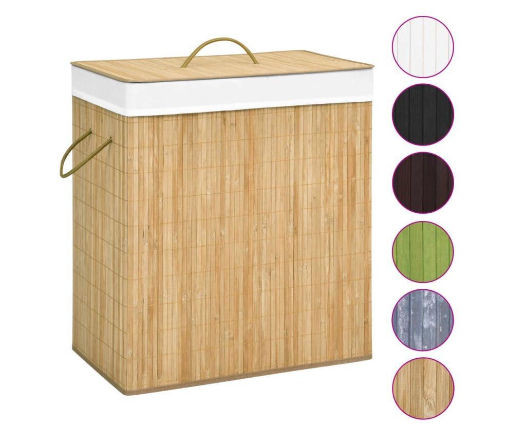 Bambusowy kosz na pranie, 100 L