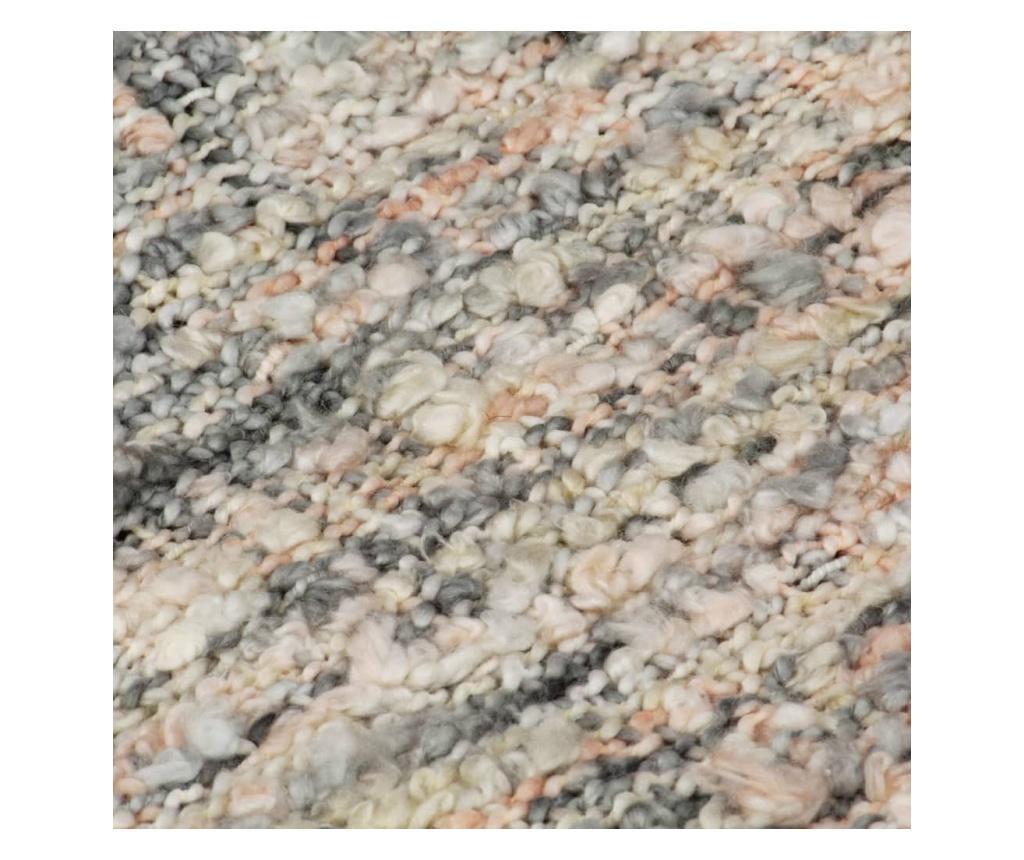 Přehoz 160 x 210 cm růžovo-bílo-šedý