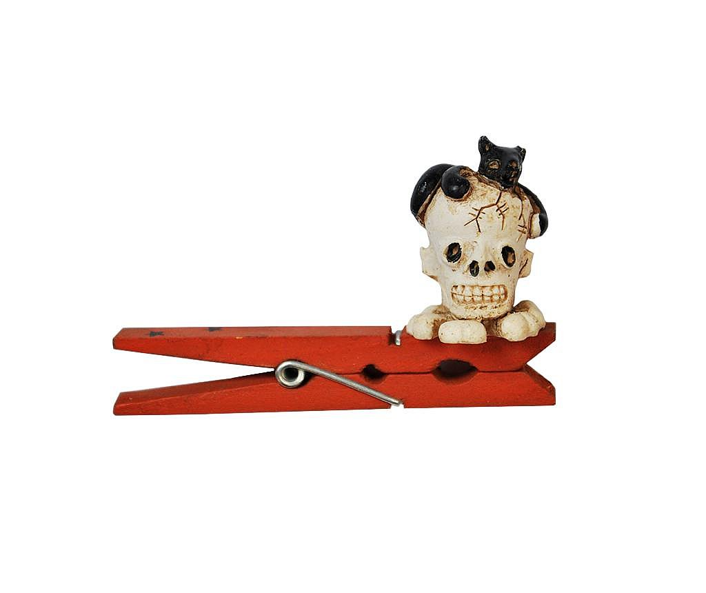 Ukrasna štipaljka Halloween Skull