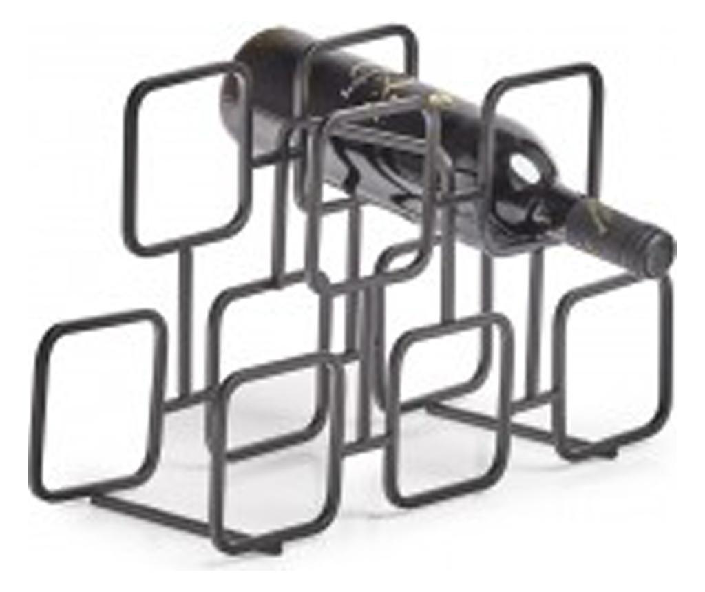 Suport Sticle Vin Black Cube, 38 X 14 X 23 Cm