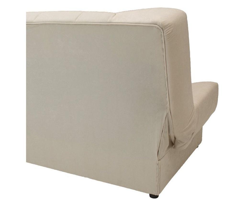 Canapea extensibila 3 locuri cu spatiu de depozitare Tiko Beige