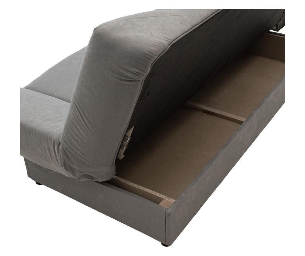 Tiko Grey Kihúzható háromszemélyes kanapé tárolóval