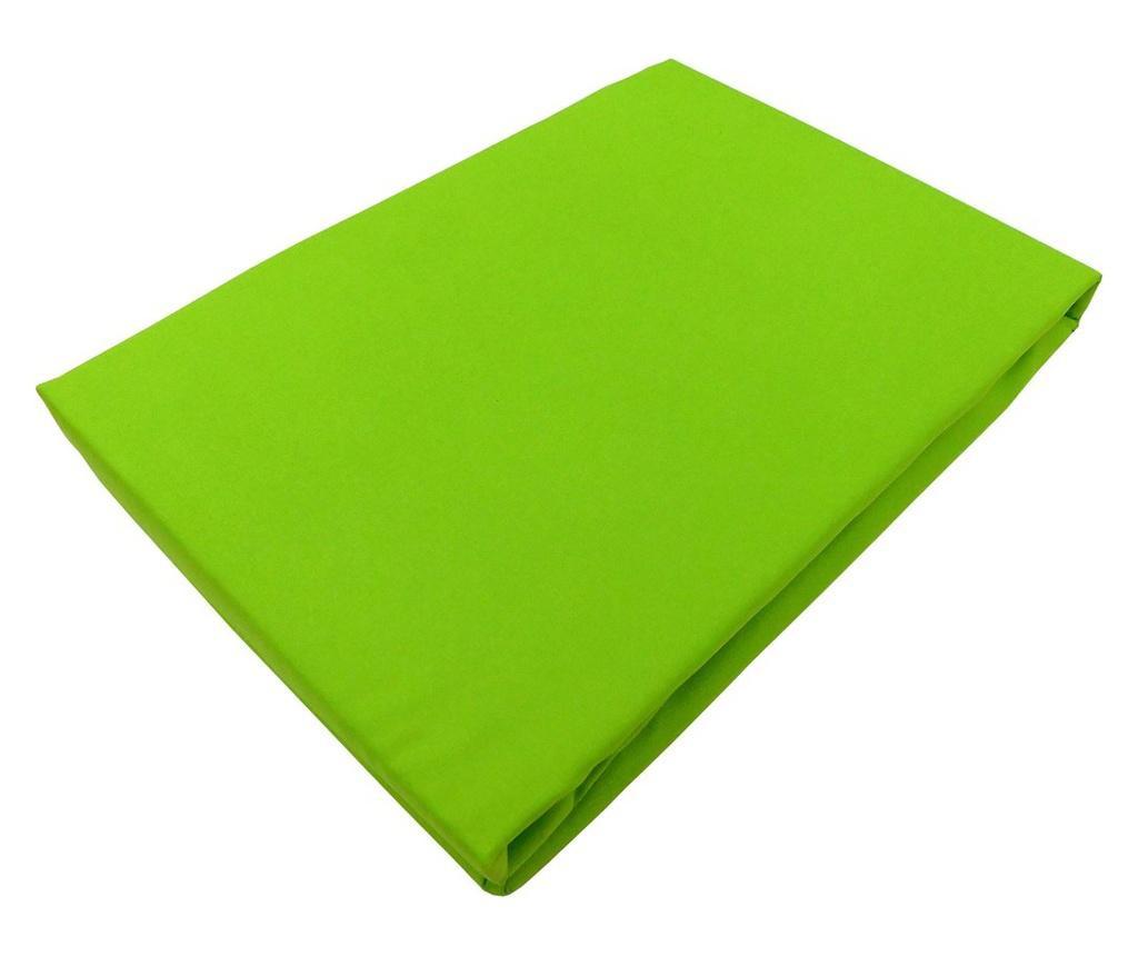 Cearsaf de pat 240x260cm, Satinat, bumbac 100%, Verde