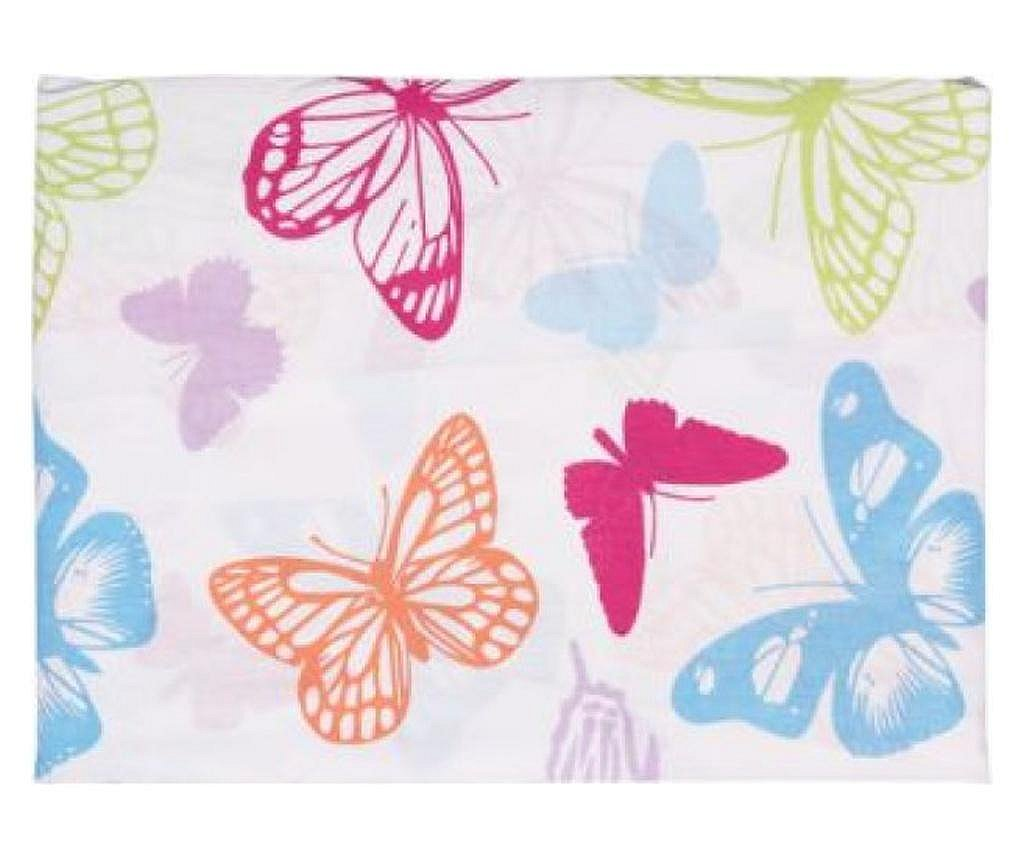 Cearceaf Pat Dbl Cu Elastic 180*200+25cm – St. Casa - 100%bbc - Butterfly