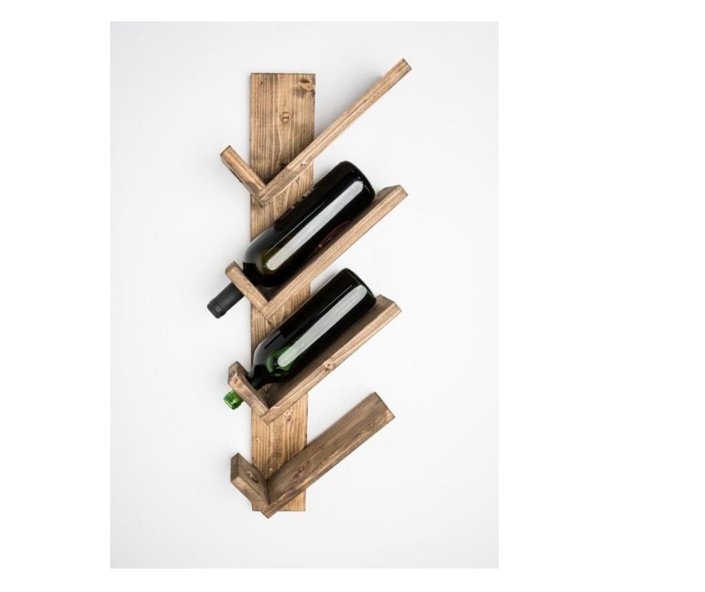 Suport Pentru Sticle De Vin, Descartes, 26x71x11.5 cm, Palisandru