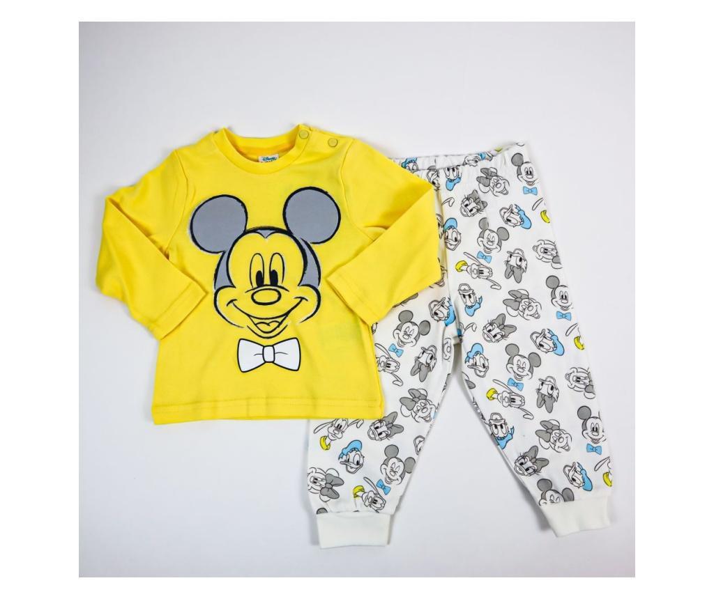 Pijama 2 Piese Mickey Galben  2 ani