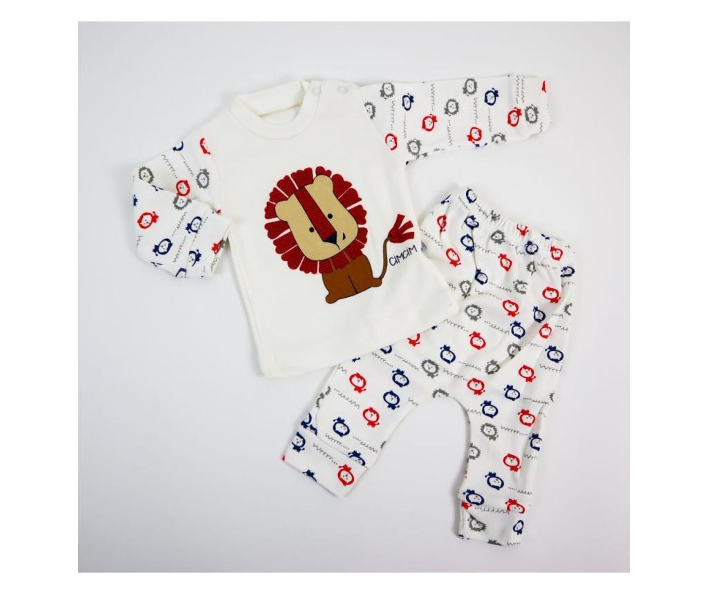 Pijama 2 Piese Leo  3-6 luni