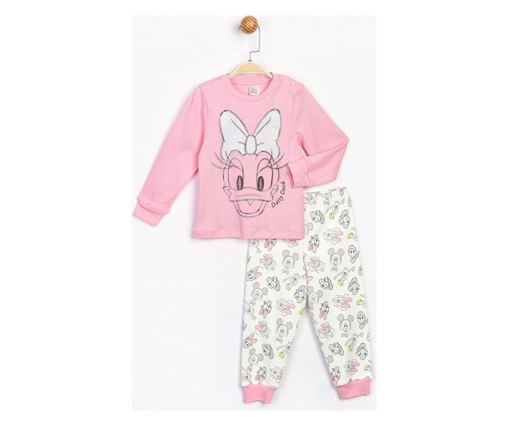 Pijama 2 Piese Daisy Duck Roz  2 ani