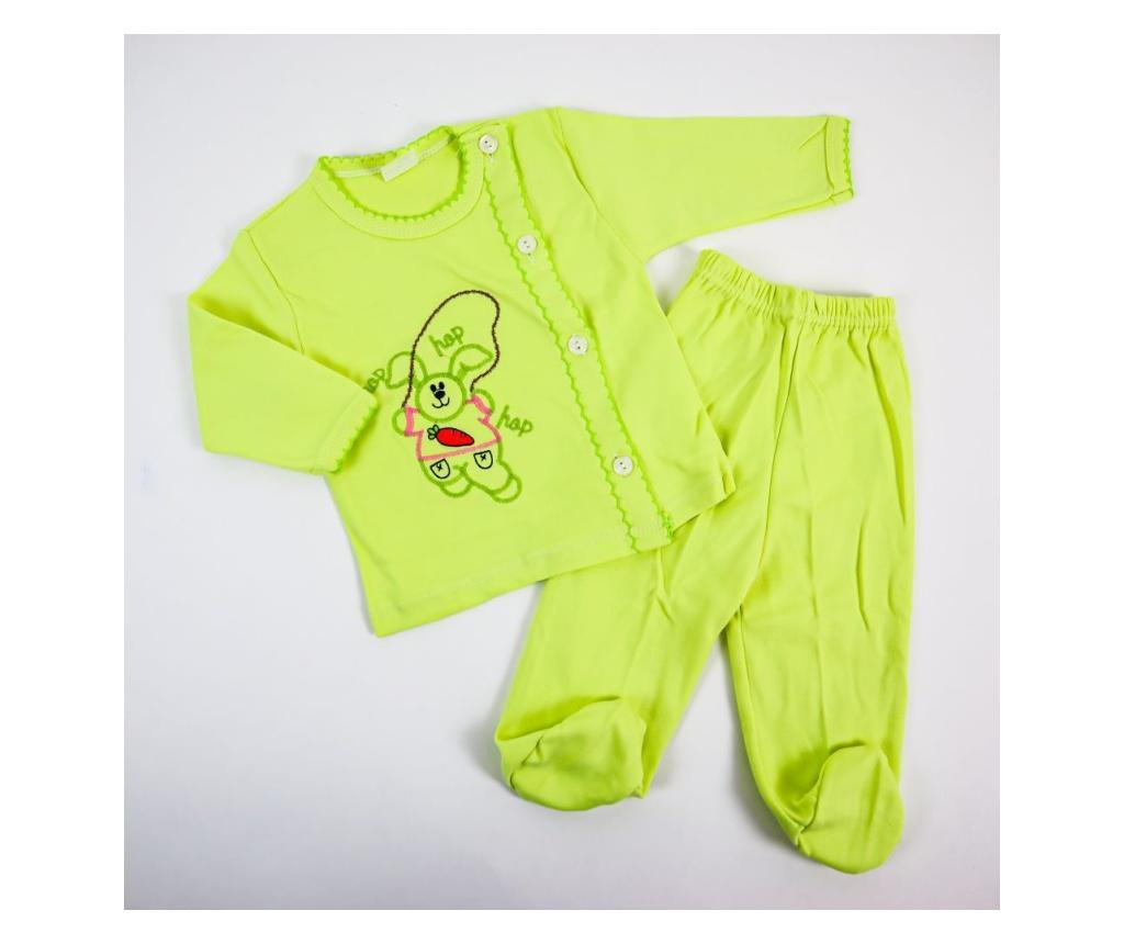 Pijama 2 Piese Hop Verde  0-6 luni