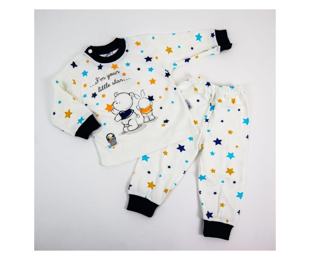 Pijama 2 Piese Little Star  0-6 luni