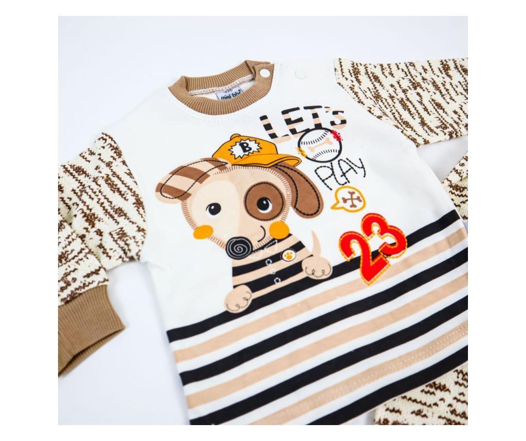 Pijama 2 Piese Dog Play Maro  12-18 luni