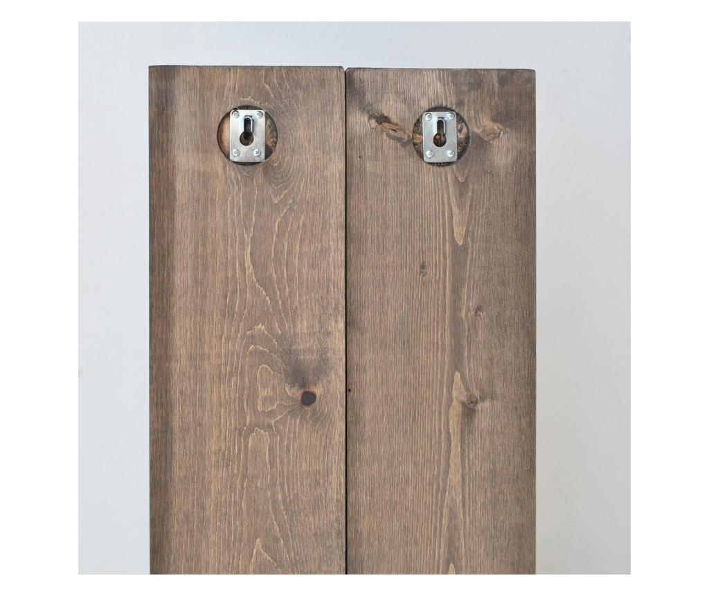 Suport pentru sticle Evila Originals, lemn masiv, maro nuc