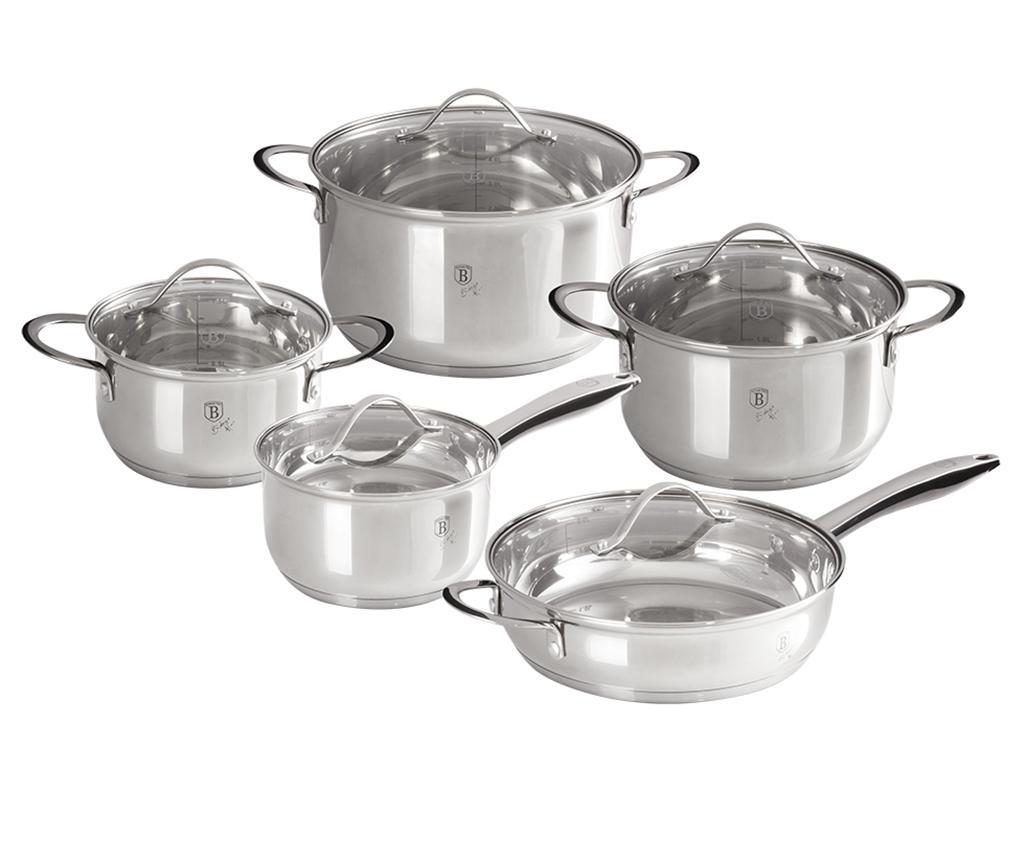 Set vase pentru gatit 10 piese Silver Jewelry