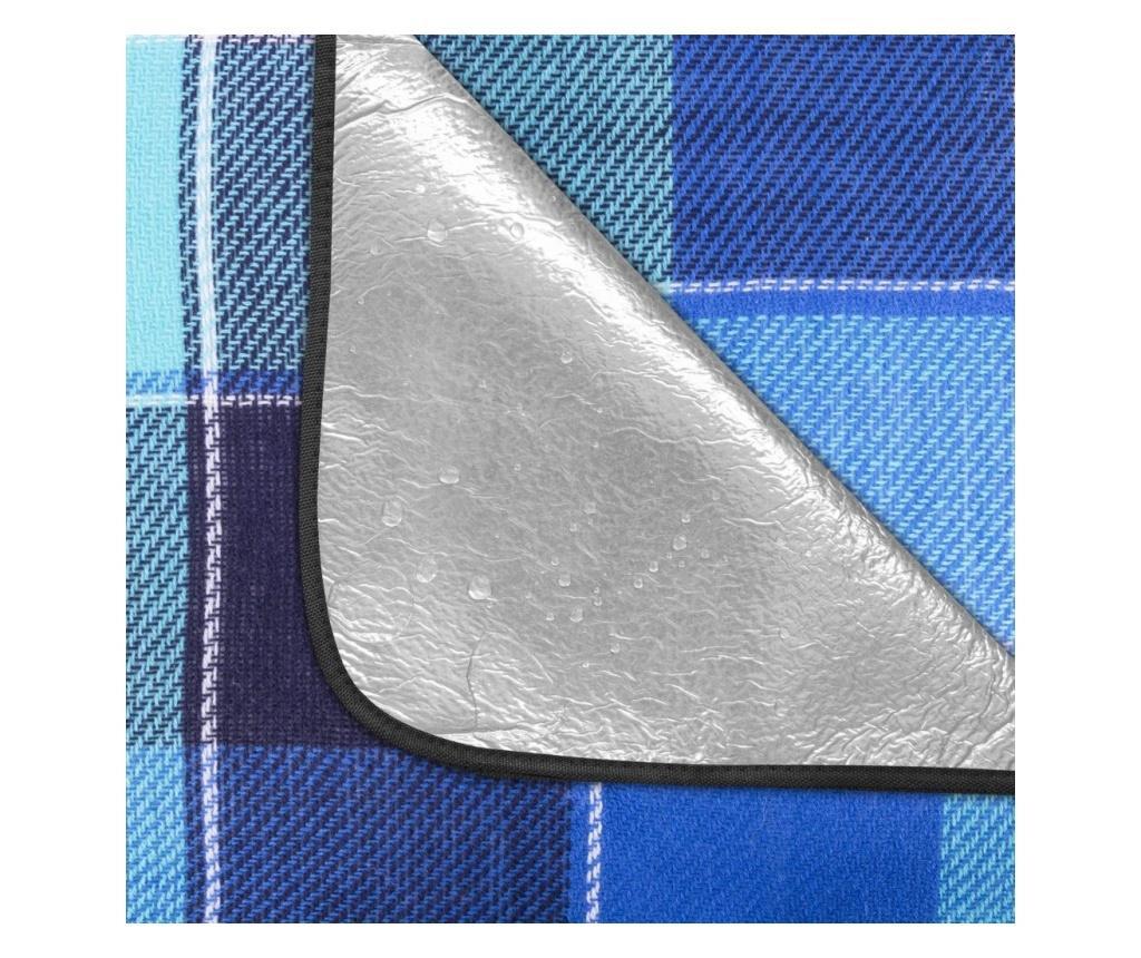 Patura picnic impermeabila, Spokey, 150x180 cm, captusita cu aluminiu, Flannel