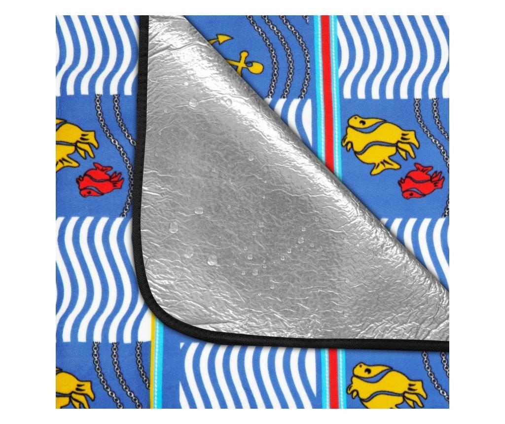 Patura picnic impermeabila, Spokey, 150x180 cm, Picnic Amber, captusita cu aluminiu